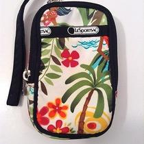 Le Sportsac Wristlet Camera Ipod Phone Case Bag Tropical Theme Photo