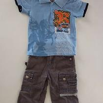 Le Top Boutique 12m Boys 3pc Outfit Brooklyn Express Blue Shirt Jeans Now & Zen Photo