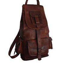 Leather Backpack Men Bag S Shoulder Laptop Travel Rucksack Mens School Coach New Photo