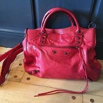 Leather Balenciaga Red Handbag Photo