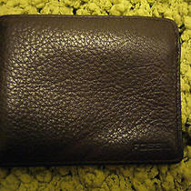 Leather Bifold Mens Wallet by Fossil Brown Leather Photo