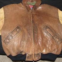 Leather Bomber Jacket - Aldo Brand - Large - L Photo