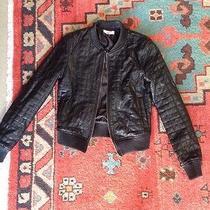 Leather Bomber Jacket Xs Photo