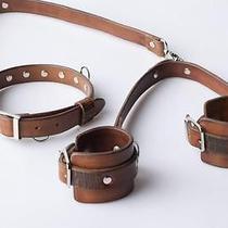 Leather (Bracelets) for Sex Games Handmade Sex Toysm Fetishcuff Fantasy Photo