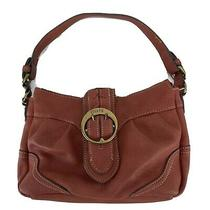 Leather Chaps Traveler Arabian Purse or Handbag W Gold Buckle Nice  Photo