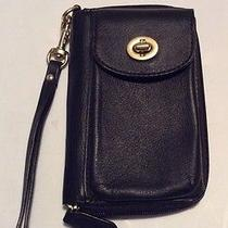 Leather Coach Campbell Cell Phone Wallet Photo