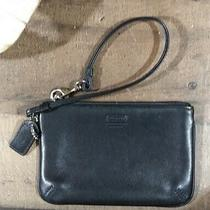 Leather Coach Wristlet - Black Photo