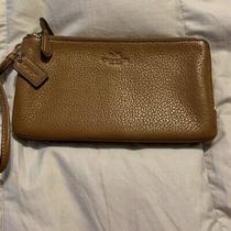Leather Coach Zipper Wallet/wristlet Brown Photo