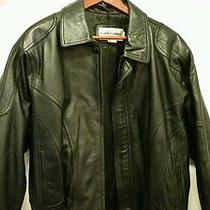 Leather Coat Lambs Skin Leather Cerruti  Photo