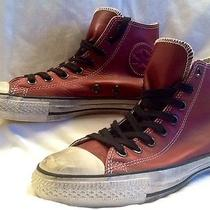 Leather Converse All Star Shoes Ruby Wine by John Varvatos (Men's Size 7) Photo