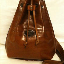 Leather    Craftsman   by   Aldo    Filosini    Brown    Leather    Backpack     Photo