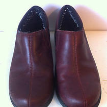 Leather Crocs Mahogany Colored Mules Clog  - Size 7 Photo