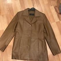 Leather Elements Lined Washable Leather Blazer Jacket Tan Size Xs Photo