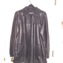 Leather Elements Pre-Owned Black Lambswool Barn Jacket Size L Photo
