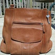 Leather Fossil Brown Double Straps Handbag 11