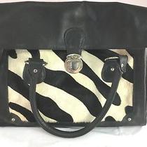 Leather Hobo Messenger Bag Zebra Photo