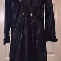 Leather Jacket (Floor Length) Black Leather/women's Photo