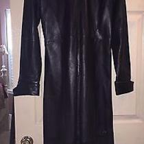Leather Jacket (Floor Length) Black Leather/women's Photo