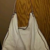 Leather Liz Claiborne Slouch Bag. Off White  Photo