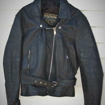 Leather Motorcycle Jacket Size Large Very Good Condition Photo