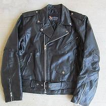 Leather Motorcycle/rocker Jacket Like New by Element. Photo