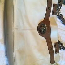 Leather Off White Coach Bag With Matching Wallet Nice Condition Photo