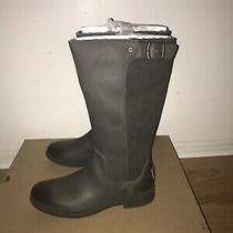 Leather & Textile Ugg Rain Boots in Slate Green Sizes 7 7.5 8 9.5 & 10 Photo