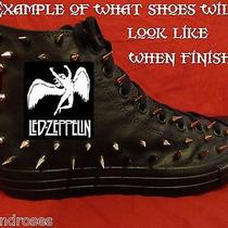 Led Zeppelin Punk Rock Custom Studded Converse Chuck Shirt Sneakers Shoes Spikes Photo