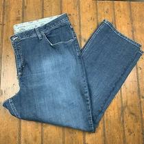 Lee Riders Womens Plus 26w Comfort No Gap Waist Bootcut Jeans Blue Denim Stretch Photo