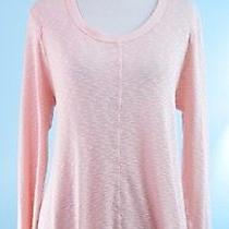 Left of Center Anthropologie Blush Pink Long Sleeve Asymmetrical Tunic Top M Photo