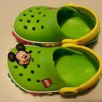 Lego Crocs With Mickey Mouse Charm Size 4-5 Photo