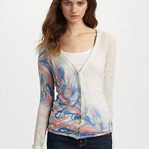 Leifsdottir 210 Painted Flower Cardigan Size S Anthropologie Saks Photo