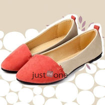 Leisure Sweet Spring Autumm Elegant Imitation Leather Women Lady Flat Pump Shoes Photo