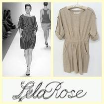 Lela Rose 895 Oatmeal Wool Blend Work Dress4 Photo
