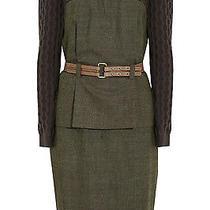 Lela Rose Cable Knit & Wool Blend Peplum Dress 1395.00 Photo