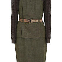 Lela Rose Cable Knit & Wool Blend Peplum Dress 1395.00 Photo