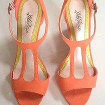 Lela Rose for Payless Orange Mapleton Wedges - 8.5 - Gently Worn  Photo