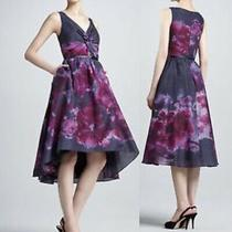 Lela Rose Neiman Marcus Target Dress Size 8 Purple Floral Watercolor Hi Lo Nwt Photo