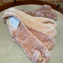 Lemon Shades of Blush Pink Set 3 Pile Velvet Socks O/s New Lounge Comfy Photo