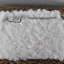 Leonello Borghi White Curly Lamb Fur Clutch Purse New 625 Photo