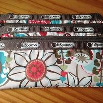 Lesportsac 3 Zip Cosmetic Coin Camera Pouch Floral Pattern Photo