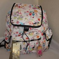 Lesportsac Around the World Voyager Backpack Disney It's a Small World Handbag Photo