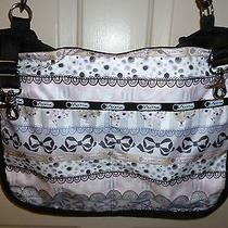 Lesportsac Baby Bag Eyelet Pattern Large Lots of Compartments No Diaper Pad Photo