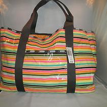 Lesportsac Beach Tote in Gelato Print Rare 75 Comes W/ Pouch Last Few Photo