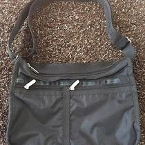 Lesportsac Black Nylon Deluxe Everyday Crossbody Messenger Bag Photo