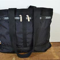 Lesportsac Black Nylon Tote / Large Purse Photo