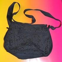 Lesportsac Black on Black Design Shoulder / Crossbody Bag Photo