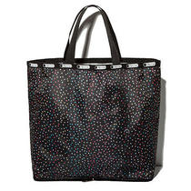 Lesportsac Black Star Nylon Tote Shopping Bag  Photo