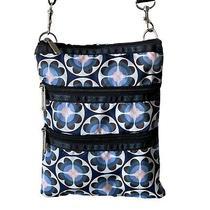 Lesportsac Blue Floral Purse Crossbody Bag Photo