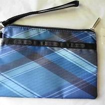 Lesportsac Blue Plaid Wristlet Bag Photo